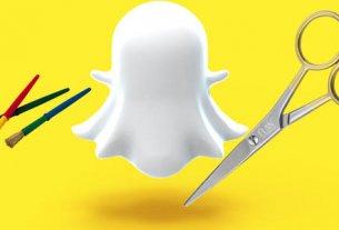 snapchat ножницы и кисть