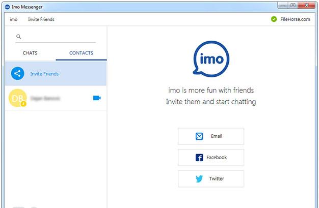 приглашение друзей в imo из социальных сетей