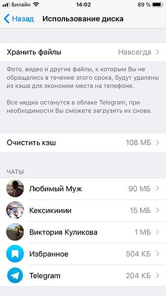 хранение данных в Телеграм